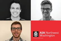 Three college students were chosen to receive AIA Northwest Washington Section's 2019 scholarship, totaling $4500 to local residents pursuing an architectural education.